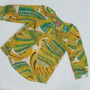 Banana Republic Trina Turk Silk/Cotton Blend Tunic